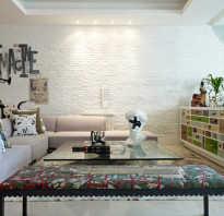 Стена белый кирпич в интерьере