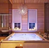 Дизайн ванной в загородном доме