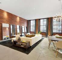 Дизайн гостиной с кирпичом