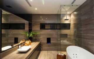 Дизайн ванной под дерево фото