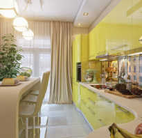 Дизайн кухни в глянце