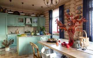 Дизайн кухни гостиной в деревянном доме фото