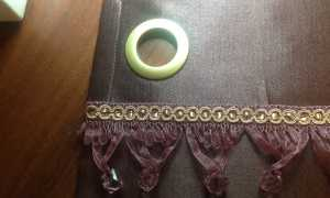 Как рассчитать ткань на шторы с люверсами?