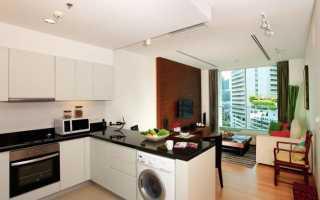 Дизайн кухни с выходом в гостиную