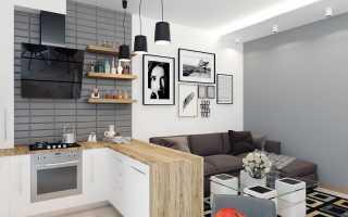 Дизайн кухни для студии