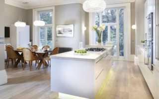 Дизайн кухни в бело серых тонах