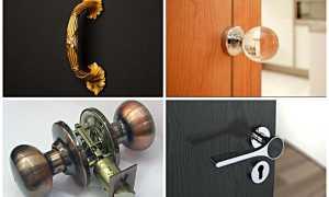 Как снять ручку с входной металлической двери?