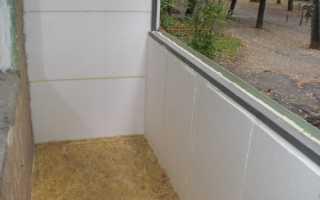 Пенопласт для утепления балкона изнутри