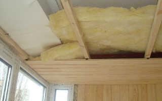 Нужно ли утеплять потолок на балконе