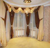 Угловой карниз для штор в гостиную
