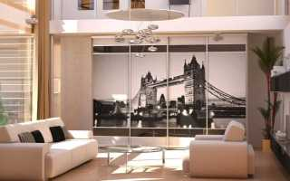 Дизайн гостиной с шкафом купе