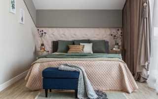 Узкая спальня дизайн реальные фото