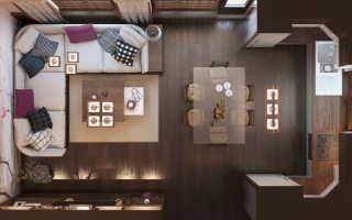 Дизайн гостиной с кухней 25 кв м
