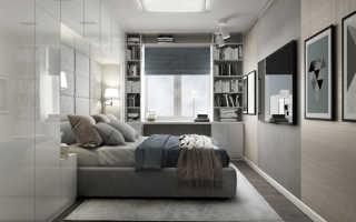 Узкая спальня в хрущевке дизайн реальные