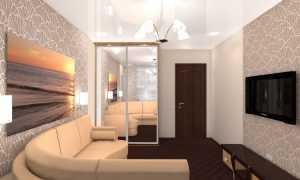 Интерьер 15 м спальни гостиной