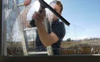 Как очистить стекло от цементного раствора?