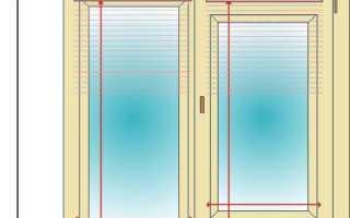 Как измерить окно под жалюзи