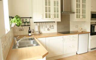 Дизайн кухни в плитке фото