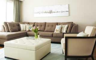 Дизайн гостиной с угловой стенкой