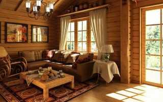 Дизайн дачной гостиной